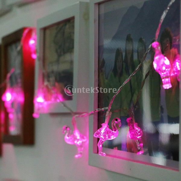 10 LED Flamingo Fairy String Light Indoor Outdoor decoration - mydealsite