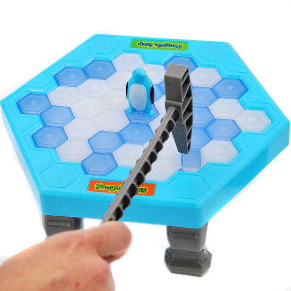 Hot Penguin ice break toys for children kids Educational toy Penguin Ice Kids Puzzle Game Break Ice Hammer Trap Party Toy - mydealsite