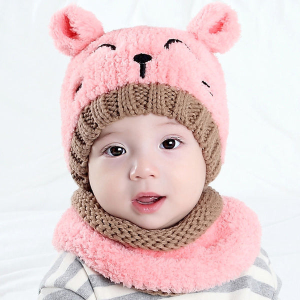 Adorable Toddler Infant Baby Warm Winter Hat and Neck warmer Set