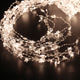 18 strips of 360 LED 2M bead lights. Silver Wire Outdoor/indoor Christmas/Wedding/Party Decoration Lights