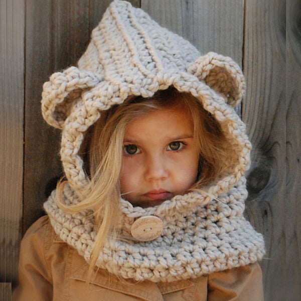 Warm Hat With Scarf Hooded Scarf Gift