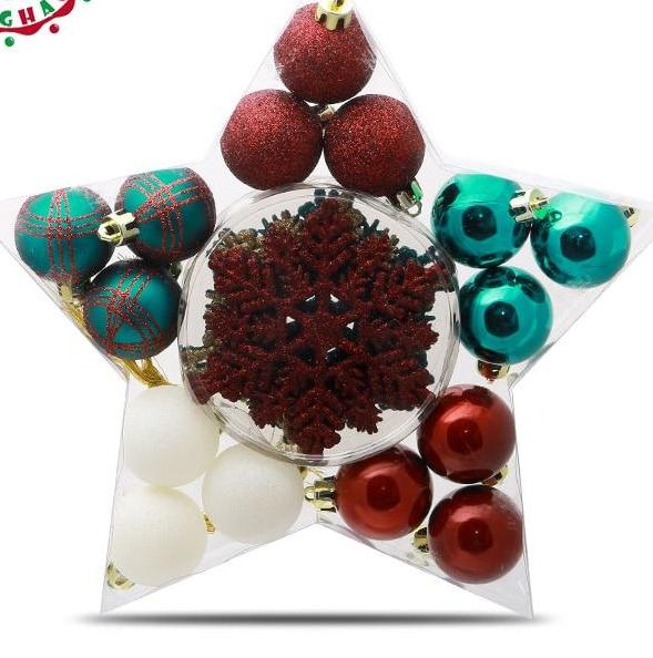 24Pcs Christmas Tree Ball Baubles Hanging Ornaments - mydealsite