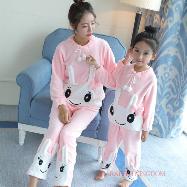 Mommy and Me Cozy Winter  Matching Pajama Sets