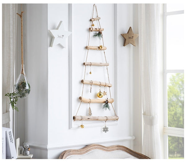Handmade Craft Wooden Ladder Christmas Hanging Decoration - mydealsite