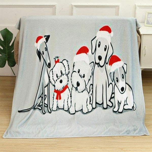 Flannel Fleece Fabric Blanket. New Year Decoration .Christmas Gift ,Breathable, Warm ,Soft Deco  3 Sizes - mydealsite