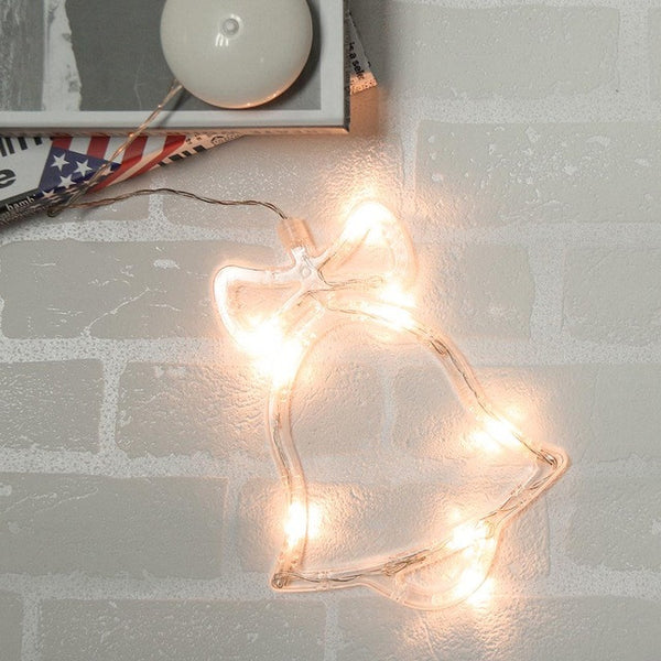 LED Christmas Decorative Holiday Light Bell /Stars/Tree Glass Window Lamp