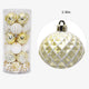 24Pcs Christmas 6cm Silvery Gold Snowflake Color Tree Hanging Ornament Pendants