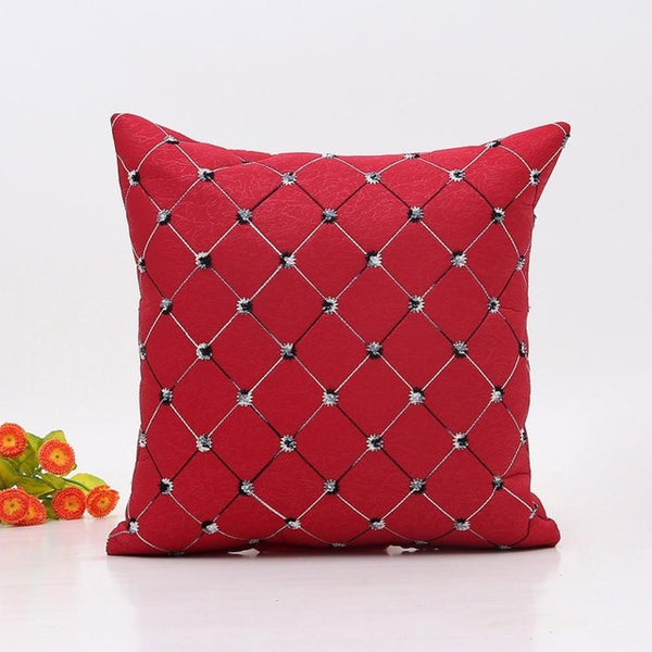 Qualited Christmas Plaid Pillow Cover Case Square 18x18 - mydealsite