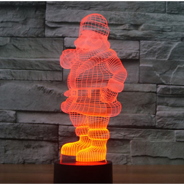 3D LED Night Light Santa Claus  with 7 changeable Colors - mydealsite