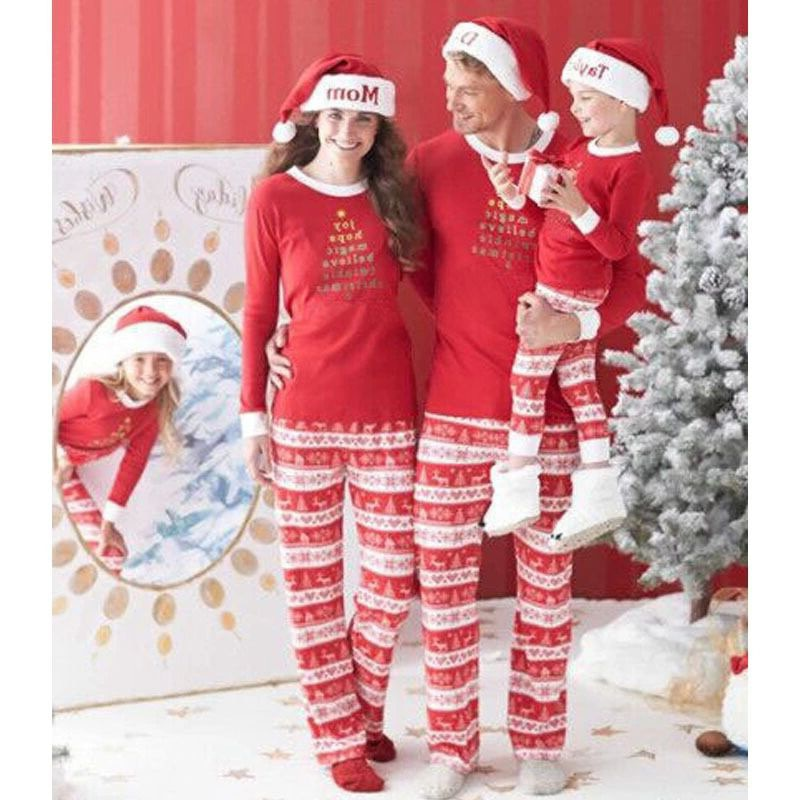 04aa3b36ca Family Christmas Pajamas Family Matching Outfit Father Mother Daughter Girl  Boy Clothing Sets Pyjamas Family Look ...