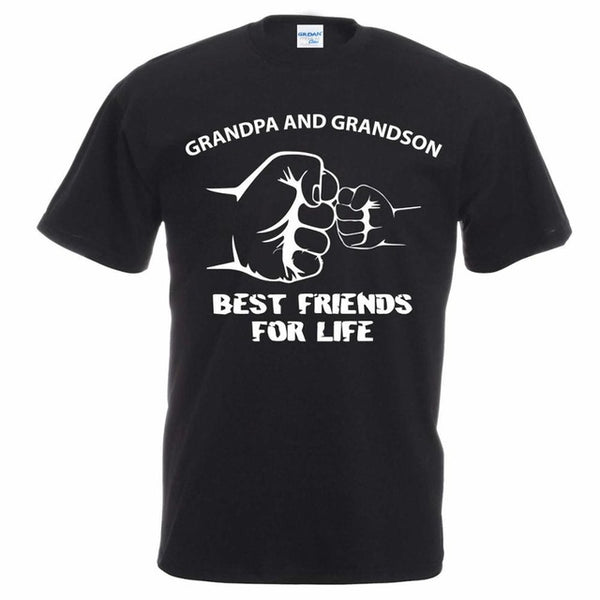 Grandpa And Grandson Best Friends For Life T-Shirt - mydealsite