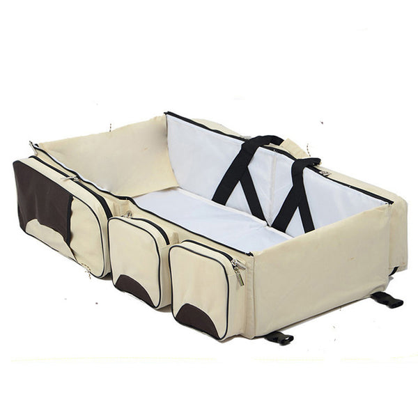 multifunctional Portable travel Bassinet. large capacity Diaper Bag,Changing Station, Travel Crib, Diaper Bag, travel bed. - mydealsite