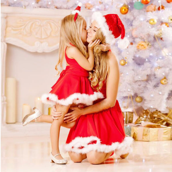 Matching Mother Daughter Christmas Fashion Dresses - mydealsite