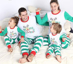 Christmas Family Matching Outfits Long Sleeve Stripe T-shirt+Pant Suits
