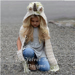 Handmade Girls Wool Knitted Unicorn Scarf Hat Wrap