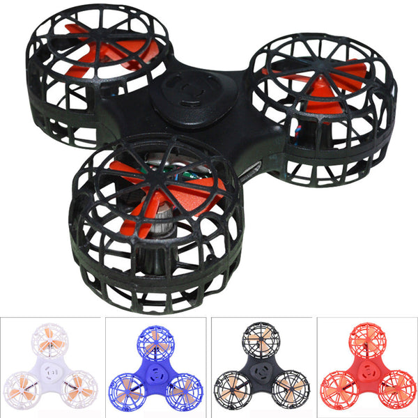 Tiny Toy Drone Flying Fidget Spinner Stress Relief Gift Flying Gyroscop Toy
