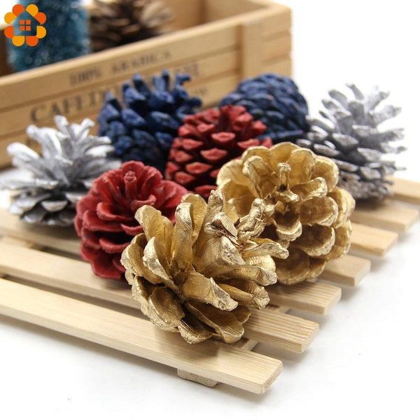 Colorful Christmas Tree Ornaments Pine Cones - mydealsite