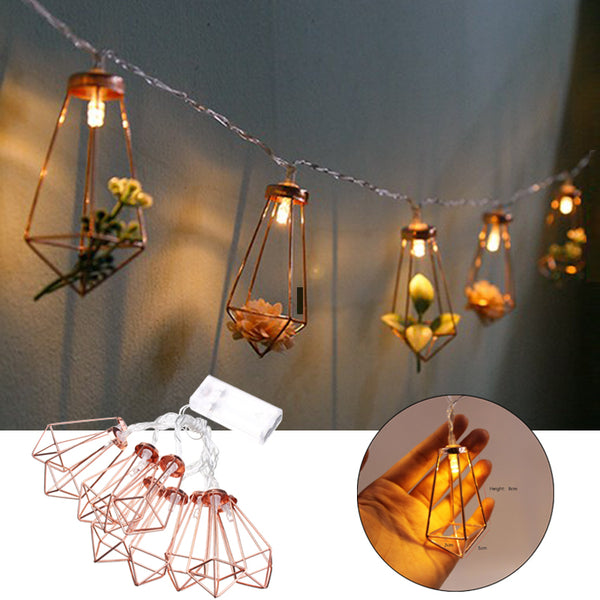 10 LED diamond shaped String Lights for indoor wedding,christmas, party lighting. - mydealsite