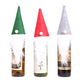 3PCS Christmas Wine Bottle Cover Holders Santa Claus
