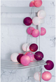 20-Cotton Ball String Light Christmas Decorations for Home, New Years, christmas decoration garland