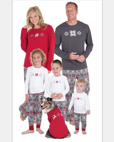 Family Matching Christmas Pajamas Snow flake,elk,snoopy Family Clothing set - mydealsite