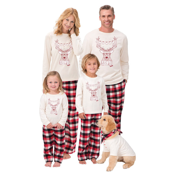 Christmas Family Matching Outfits Pajamas Sets Kid Mom Father Xmas Deer Sleepwear Nightwear Brother Sister Baby Clothing - mydealsite