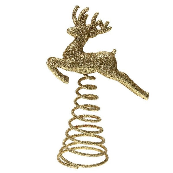 Christmas Tree Topper Hollow Star Elk Angel Hanging Pendant - mydealsite