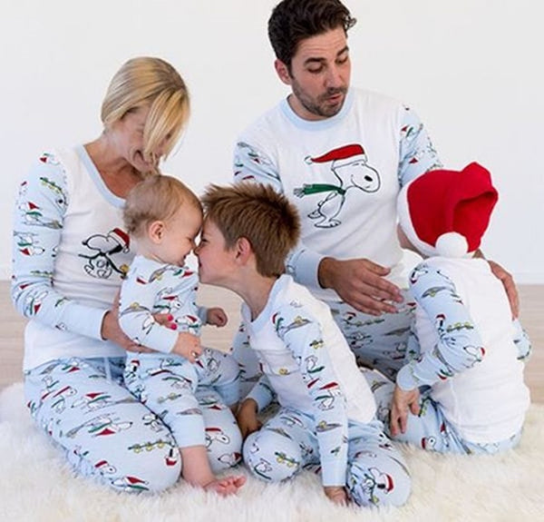 Snoopy Christmas Pajamas family Look Clothes - mydealsite