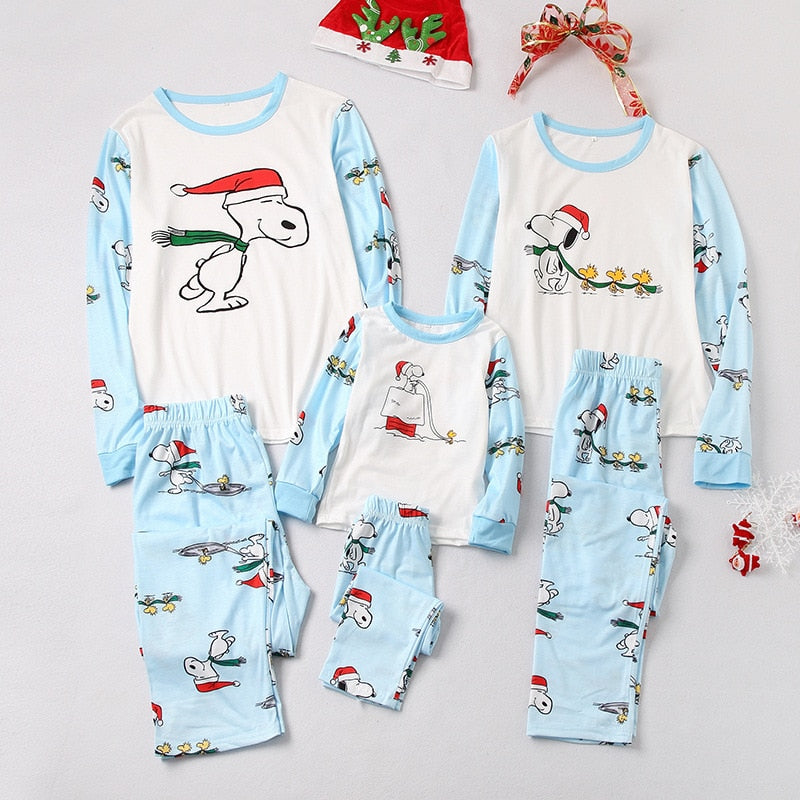 snoopy christmas pajamas family look clothes mydealsite - Snoopy Christmas Pajamas