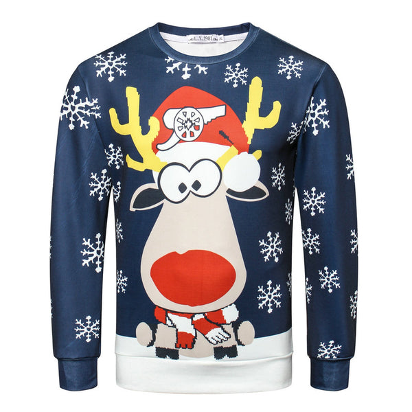 3D Jumper Snowman Deer  Xmas Patterned Sweater Ugly Christmas Sweaters Tops For Men Women - mydealsite