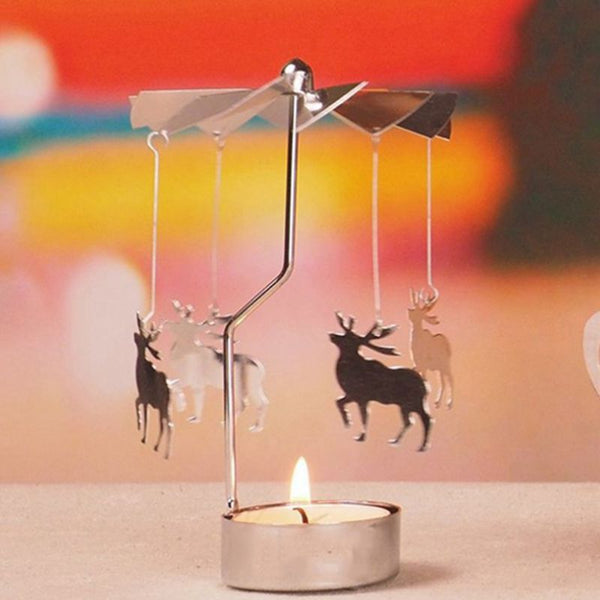 Rotary Spinning Tealight Candle Holder Carousel - mydealsite