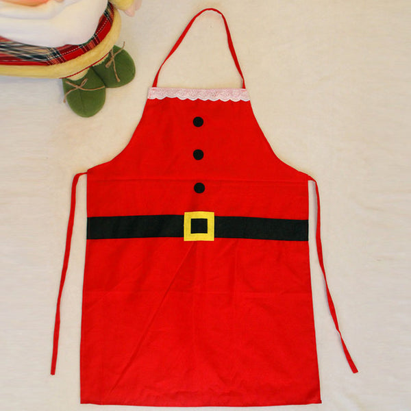 Santa Claus mother daughter kitchen matching aprons - mydealsite