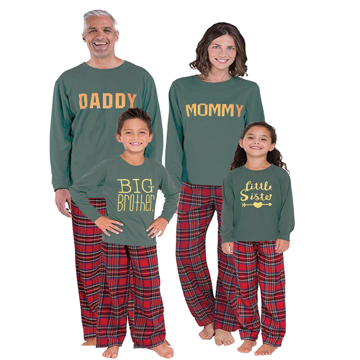 Christmas Family Matching Xmas Pajamas Set Women Kid Dad Adult big brother  little sister baby Christmas 23563802a
