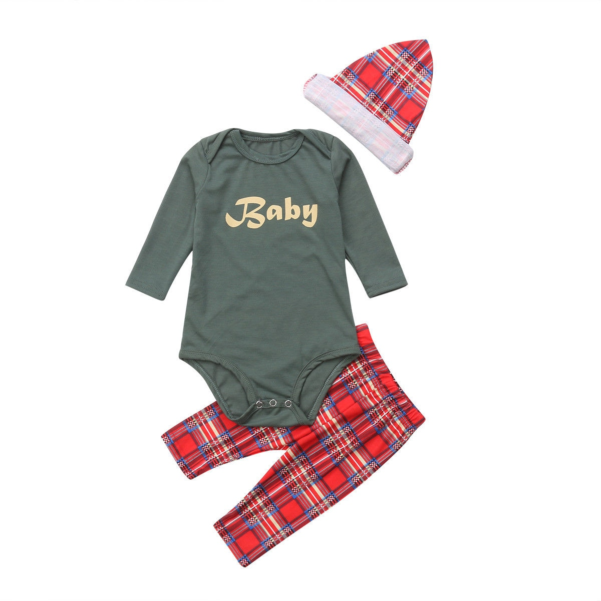 Christmas Matching Family Big Brother Little Sister Plaid Pajama Set 0c53d04a7