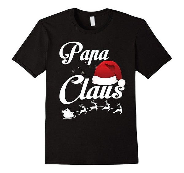 Papa Claus Matching Family Christmas Funny T-Shirt Casual Short Sleeve T Shirt Tee New Funny Brand Clothing  Top Tee - mydealsite