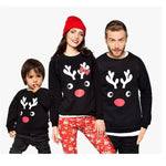 Family Matching Elk Moose Christmas Sweatshirts