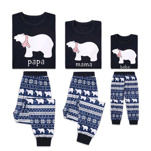 Polar Bear Matching Family Christmas Pajama - mydealsite