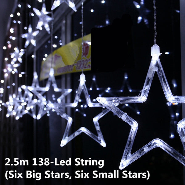 Led String star Christmas oudoor light decoration. 3 colors - mydealsite