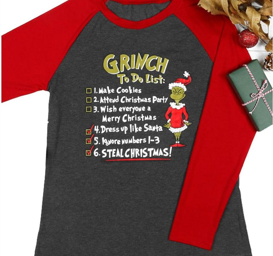 0b2069ed0 Grinch Christmas My Day I Am Booked Long Sleeve Funny Baseball Tshirt women  - mydealsite