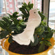 12*5*5CM, 2PCS Artificial Dove Fake Foam Feathers White Bird With Magnet
