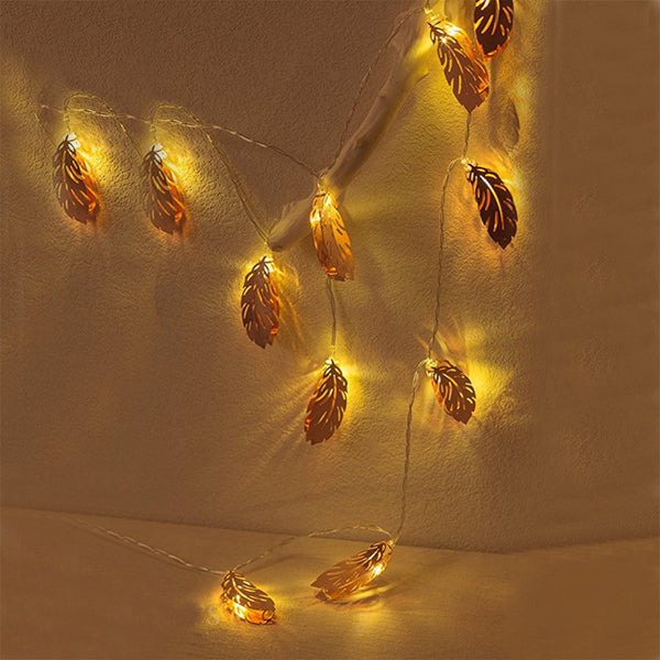 2.5M 10 20 Christmas Tree Rose Gold Feather LED String Light - mydealsite