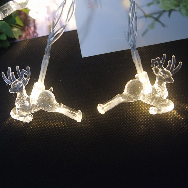 Battery operated Deer LED String Light Christmas Tree Reindeer - mydealsite
