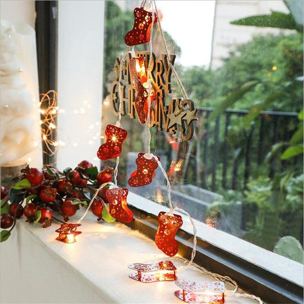 Christmas stockings led string lights christmas and New Year Christmas Decoration - mydealsite