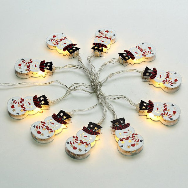 10 LED 1.8m Bell Elk Snowman Candle Lamp Christmas String Light - mydealsite