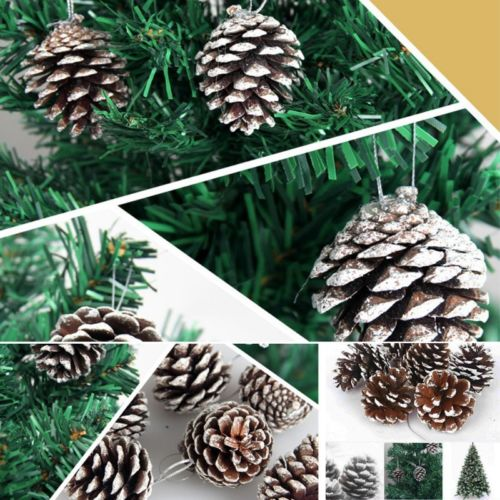 9PCS Christmas Pine Cones Baubles christmas Tree Decorations Ornament Gift Decor