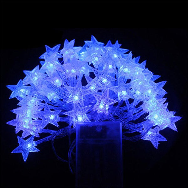 Battery Powered Star Shaped Theme LED String 4M Fairy Lights - mydealsite