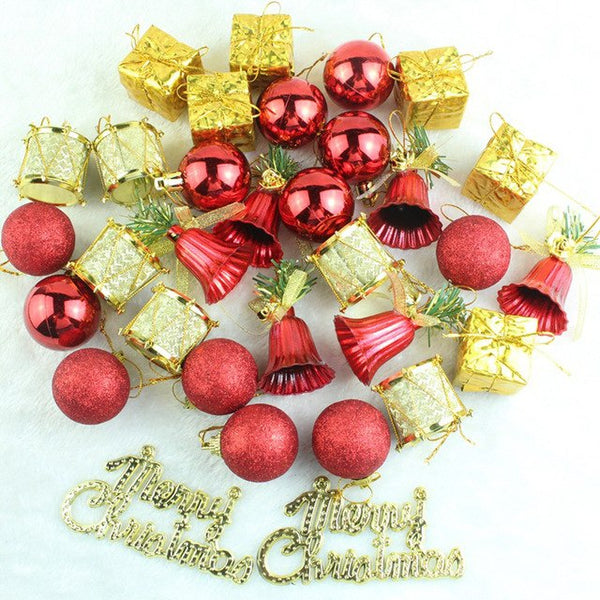 32PCS Christmas Glitter Balls Baubles, Tree Hanging Ornaments - mydealsite