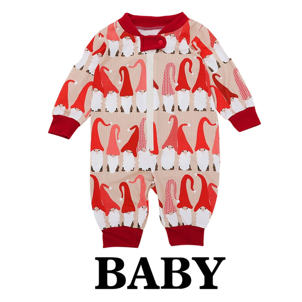 436e9e597 Matching Family Christmas Santa Pajamas Set with Baby Romper