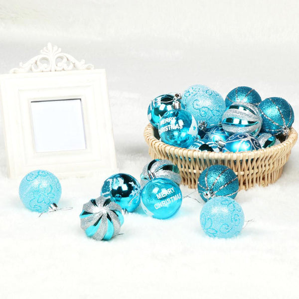 24Pcs Christmas Tree 6cm Ball Hanging Ornaments