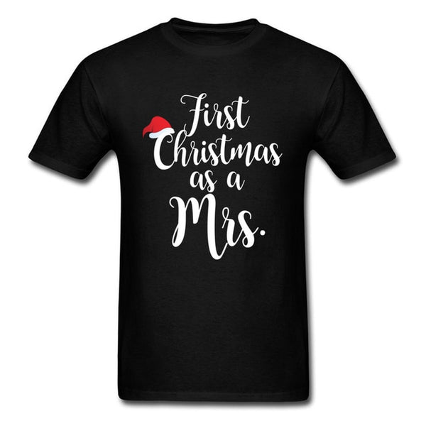 First Christmas As Mrs Women Funny T-Shirt
